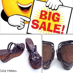 """Spotted while shopping on Poshmark: """"❗️SALE❗️Authentic Cole Haan Wedges""""! #poshmark #fashion #shopping #style #Cole Haan #Shoes"""