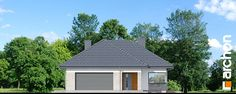 Dom w gaurach 4 (N) Model House Plan, House Plans, Modern Family House, Home Fashion, Gazebo, Sweet Home, Shed, Outdoor Structures, House Design