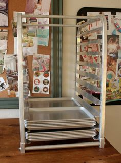 Tools of a Serial Cookie Baker {Bun Pan Rack} Sheet Pan Storage