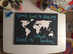 Lead Me Map Canvas by HuesOfGrace on Etsy