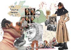 Fashion Portfolio Layout, Fashion Design Sketchbook, Fashion Design Drawings, Art Sketchbook, Portfolio Design, Collage Template, Concept Board, Editorial Design, Designs To Draw
