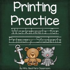 Step-By-Step Printing Practice for Primary Students from Mrs. Beattie's Classroom on TeachersNotebook.com -  (64 pages)  - Step-By-Step Printing Practice for Primary Students