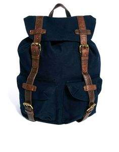 ASOS Backpack with Contrast Straps #backpack #men #trend14