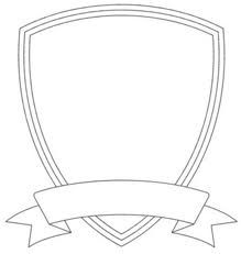 ctr shield coloring page quad ocean group classroom pinterest