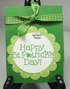 St. Patrick's Day Card and Gum Holder