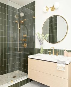 Bathroom decor for the master bathroom remodel. Learn master bathroom organization, bathroom decor ideas, master bathroom tile some ideas, master bathroom paint colors, and much more. Bathroom Inspo, Bathroom Inspiration, Bathroom Sconces, Bathroom Cabinets, Bathroom Trends, Bathroom Beadboard, Tile On Bathroom Wall, Neutral Bathroom, Boho Bathroom