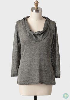 Sparkling Night Curvy Plus Cowlneck Sweater