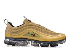 best service b7315 27713 Cheap Nike AIR VAPORMAX 97 Men s Shoes -Metallic Gold-Varsity Red Nike  Running Shoes