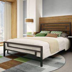 Temple Slat Panel Bed