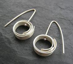 Mini Silver Sphere Earrings by bethpohlman on Etsy, $35.00
