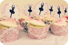 ballet party cupcake toppers