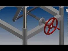 Animation of a design for an adjustable height table. The design was created with Autodesk Inventor software, and the animation was done in the accompanying . Adjustable Height Table, Adjustable Desk, Metal Projects, Welding Projects, Homemade Tools, Diy Tools, Cierra Circular, Table Saw Workbench, Autodesk Inventor