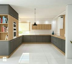 Contemporary style kitchen designs are among the methods to go. You do not require a complicated kitchen so it will be stick out, just some unique designs that can make your kitchen area the envy of the neighbors. Home Decor Kitchen, Interior Design Kitchen, Kitchen Furniture, New Kitchen, Home Kitchens, Küchen Design, Kitchen Cupboards, Kitchen Styling, Beautiful Kitchens