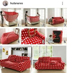 [New] The 10 Best Home Decor (with Pictures) - Show de bola vou tentar fazer no. Leather Sofa Covers, Couch Covers, Ottoman Slipcover, Slipcovers, Diy Accessoires, Diy Couch, Little Houses, Home Staging, Diy Home Decor