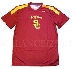 Nike USC Trojans Team Digital Crew Jersey Men's Large Fitness Shirt Sportswear…