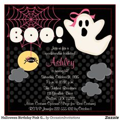Cool FREE Template Halloween Themed Birthday Party Invitations