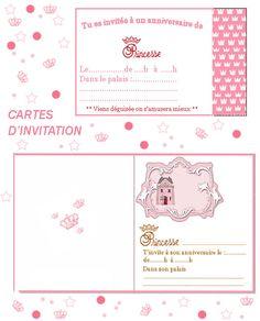 carte invitation anniversaire à imprimer gratuite