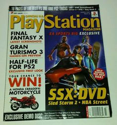 playstation video game magazine March 2001 # 42 w demo disc final fantasy kain - http://books.goshoppins.com/science-fiction-fantasy/playstation-video-game-magazine-march-2001-42-w-demo-disc-final-fantasy-kain/