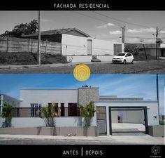 Fachada Residencial   Antes e Depois