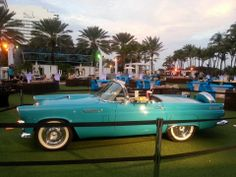 classic 56 Tbird sets the mood and color palette for this outdoor event at the Fontaine Bleau, Miami. J Patrick Designs Social Events, Corporate Events, Event Decor, Tent, Linens, Classic, Miami, Palette, Outdoor