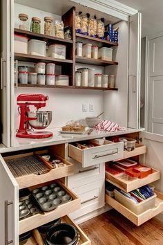 Planning kitchen storage and organization during a reno