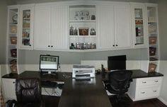 Remodelaholic » Blog Archive Beautiful Custom Built-in Home Office » Remodelaholic