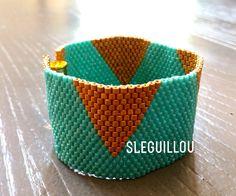 Manchette peyote or & turquoise SLeGuillou 2015