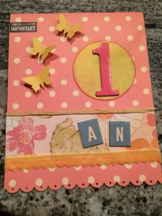 Carte Danniversaire Scrapbooking Pour Petite Fille Birthday Card For One Year Old Girl