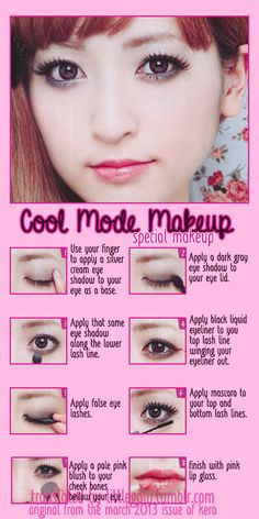 Cool Mode Special Makeup tutorial from the March 2013 issue of Kera.