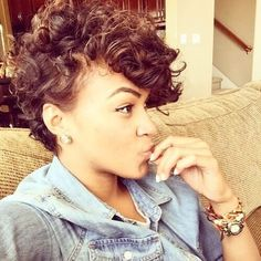 Curly Pompadours http://shedonteversleep.tumblr.com/post/157434990288/short-black-hairstyles-for-round-faces-short