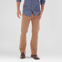 Crafted by Lee Men's Stretch Twill Pants Acorn 38x30