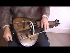 A hurdy gurdy made with a gourd!  I want one!