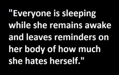 Applicable to other genders too, as it's not only female people that self-harm.