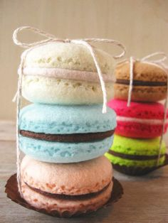 Felt Food Macarons