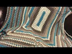 Crochet Modern Granny Rectangle Blanket | BEGINNER | The Crochet Crowd - YouTube Crochet Afgans, Crochet Granny, Crochet Blankets, Hand Crochet, Baby Blankets, Afghan Crochet Patterns, Crochet Stitches, Granny Square Afghan, Granny Squares