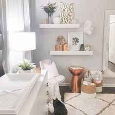 Move over gold, we love seeing these pops of copper in the nursery!  via @meganburgesgilliam!