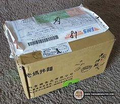 The Ramen Rater unboxes samples of a new dan dan noodle product by Mom's Dry Noodle of Taiwan - with new packaging as well