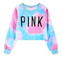 2016 Spring New Harajuku VS Love Pink Sweatshirts Crop Top women Long sleeve Casual cropped Hoodie Pullover Sweat femme Crop Top Und Shorts, Crop Top Sweater, Crop Top Outfits, Cropped Hoodie, Pink Sweater, Fall Outfits, Sweater Outfits, Teen Outfits, Cropped Top