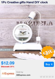 1Pc Creative gifts Hand DIY clock night light LED warm light metal products clockClock Boutique 18*25*7cm Home Decoration * Pub Date: 04:52 Apr 5 2017