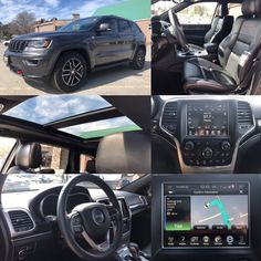 2017 'Granite Crystal Metallic' Jeep Grand Cherokee Trailhawk 4x4.  BLUETOOTH. LEATHER. NAV. BACKUP CAM. Stock 2385. Click pic for more info.