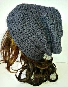 Crochet Beanie Ideas Originally posted December 2014 PM MST Acquanetta Ferguson This pattern is a great pattern that is unisex in nature ma. Slouchy Beanie Pattern, Crochet Beanie Pattern, Slouch Beanie, Grey Beanie, Crochet Gratis, Free Crochet, Knit Crochet, Crotchet, Loom Knitting