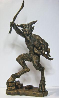 Krampus Statue by Dellamorteco on Etsy