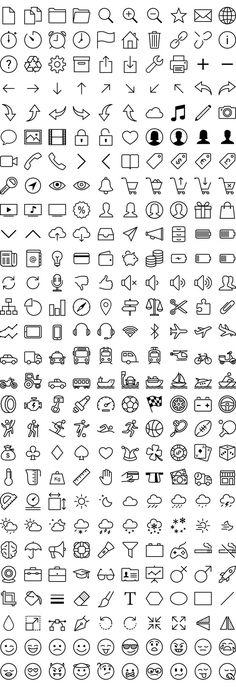 Kostenlose iOS 7 Icons in Vektor - Zeichnung Bullet Journal Icons, Journal Fonts, Bullet Journal Lettering Ideas, Bullet Journal Writing, Bullet Journal Ideas Pages, Bullet Journal Inspiration, Easy Doodles Drawings, Cute Easy Drawings, Mini Drawings