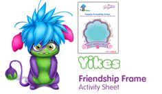 Friendship frame - Free Fun Party Popples Printables and Activities   SKGaleana