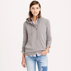 Summer's over. Time to break out the cashmere. We work with one of the best Italian mills to create ours—it's famously soft, comes in completely custom colors and, if you treat it with love, it will last forever. Supercozy and slightly oversize, our roomy hoodie is what we want to wear pretty much all the time.
