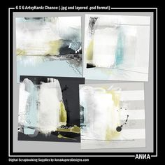 Oscraps :: Shop by Designer :: Anna Aspnes Designs :: On Sale :: 6 X 6 ArtsyKardz Chance