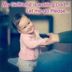 Please Papa - Kids & Children Images & Photos Cute Couple Quotes, Cute Baby Quotes, Baby Girl Quotes, Cute Funny Quotes, Funny Cute, Funny Jokes, Hilarious, Funny Pictures For Kids, Boy Pictures