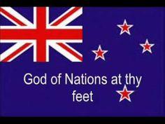 New Zealand National Anthem with Lyrics in Maori & English [Most Sung Version] Long White Cloud, New Zealand Travel Guide, Nz Art, Kiwiana, Tourist Information, National Anthem, Close To My Heart, Beautiful Islands, Lyrics