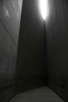 Inside The Holocaust Tower at the end of the Axis of the Holocaust at the Jewish Museum Berlin