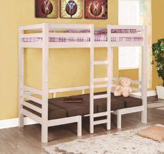 Coaster Twin/Twin Convertible Loft White
